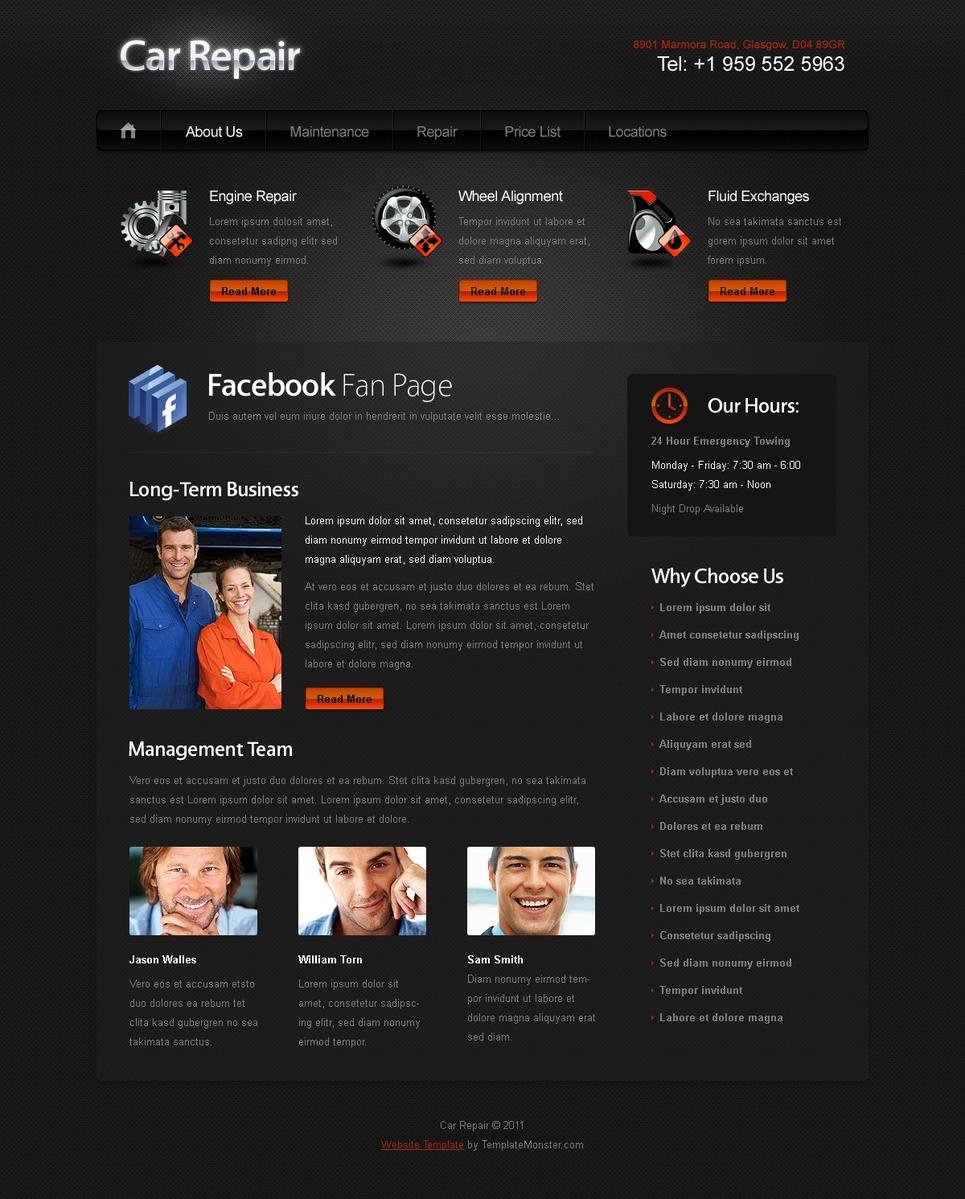 Free Website Template For Car Auto New Screenshots