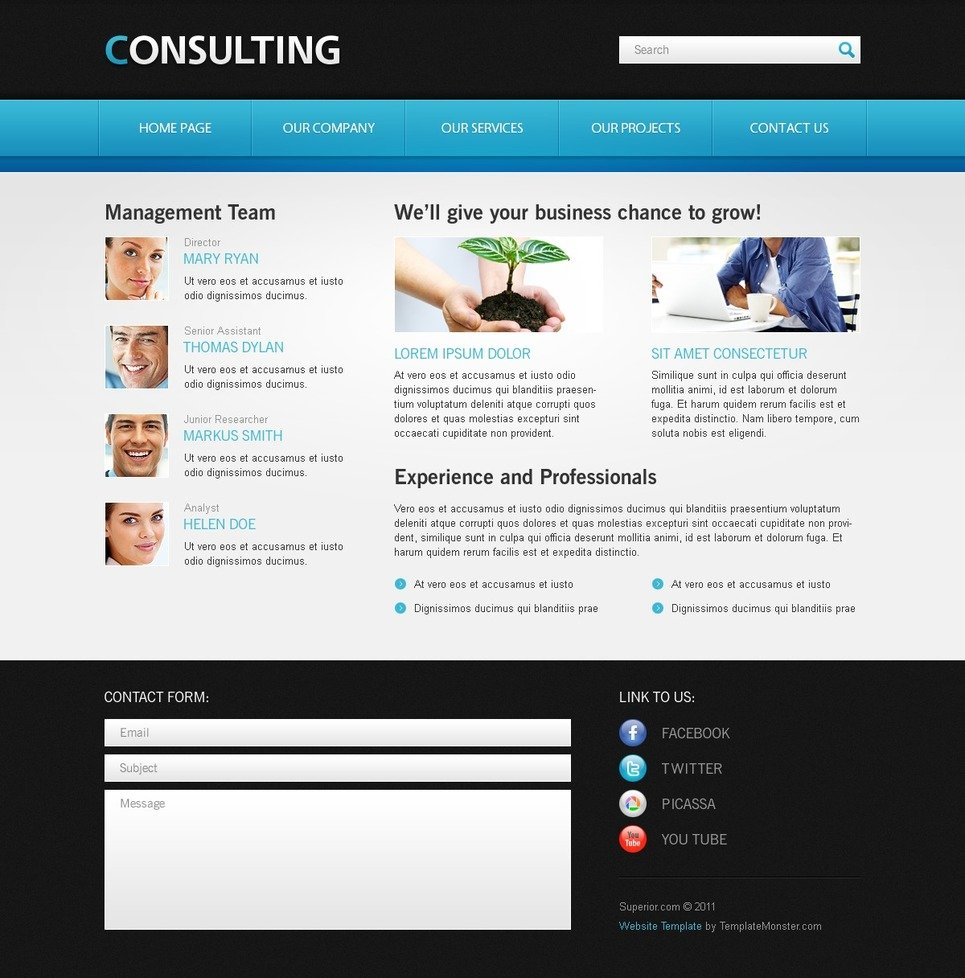free website template for consulting business