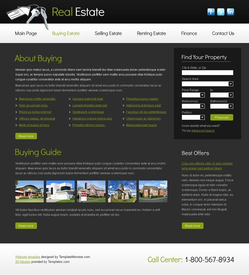 Free Website Template for Real Estate Company