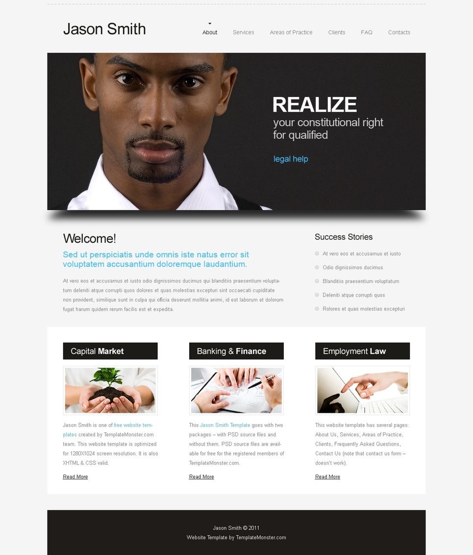 Free Website Template Law Company New Screenshots
