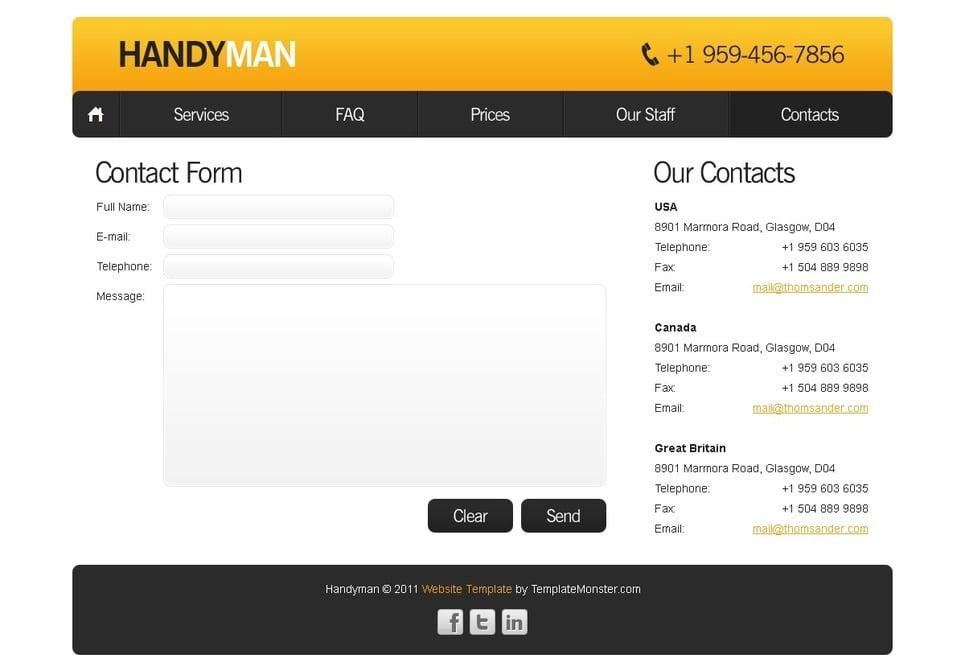 Free Website Template Maintenance Services New Screenshots