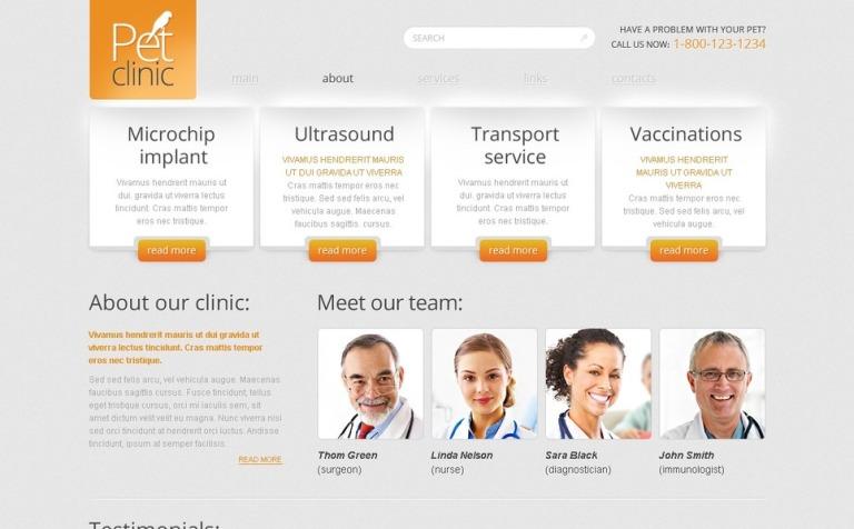Free Website Template - Pet Clinic
