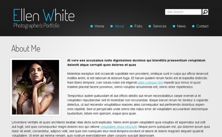 free website template photographer s portfolio