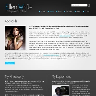 free website template photographers portfolio website template 51520 website templates