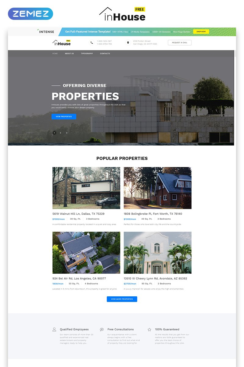 Free website template real estate zoom in maxwellsz