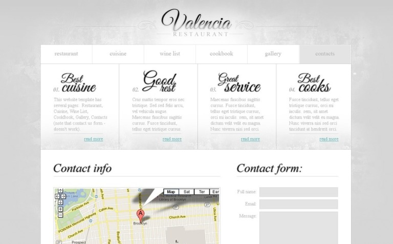 Free website template restaurant business wajeb Image collections