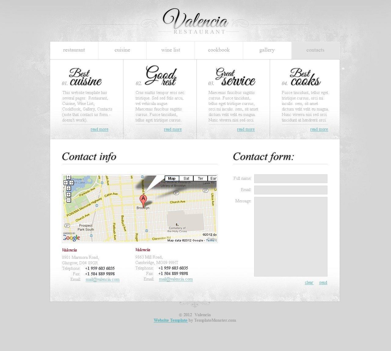 Free Website Template - Restaurant Business Website Template