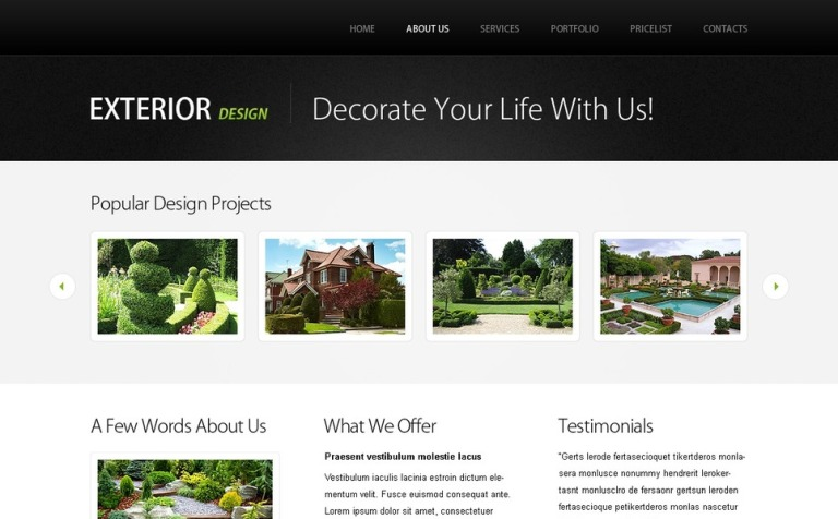 Free Website Template W Jquery Slideshow Design New Screenshots