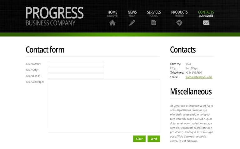 Modele Web 51526 Pour Site De De Services Aux Entreprises
