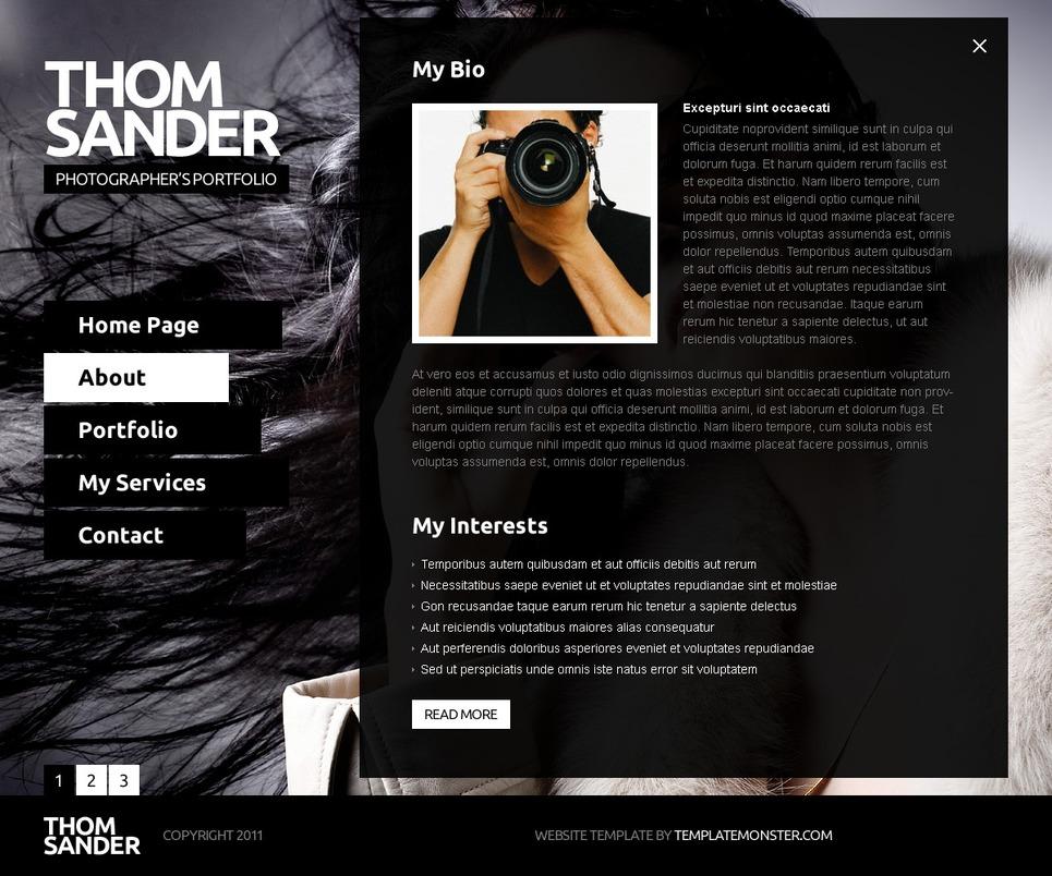 Citate Fotografie Free : Website vorlage für fotografen portfolio