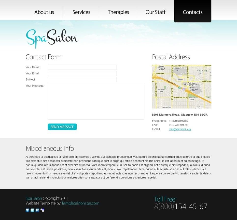 Website Vorlage #51535 für Schönheitssalon
