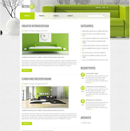 ADOBE Photoshop Template 51612 Home Page Screenshot