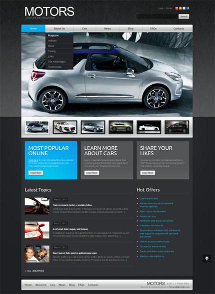 ADOBE Photoshop Template 51634 Home Page Screenshot