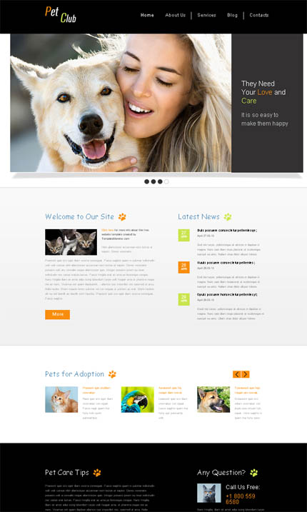 ADOBE Photoshop Template 51642 Home Page Screenshot