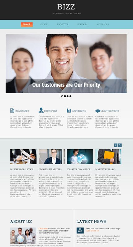ADOBE Photoshop Template 51646 Home Page Screenshot