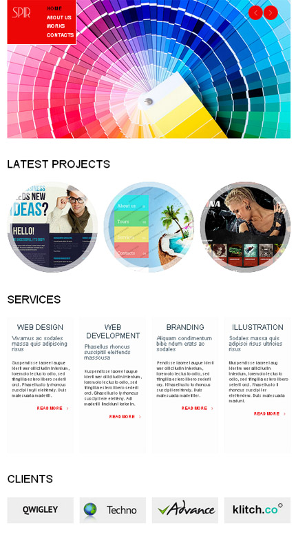 ADOBE Photoshop Template 51648 Home Page Screenshot