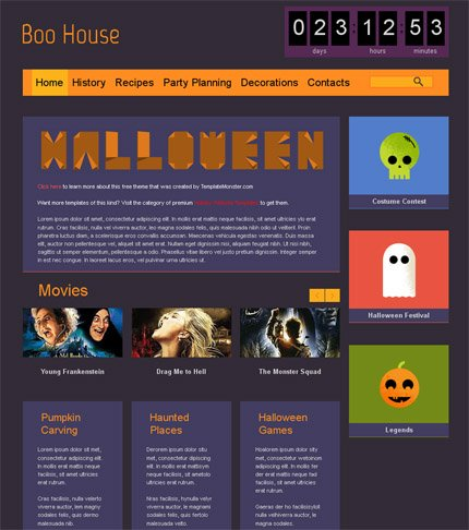 ADOBE Photoshop Template 51660 Home Page Screenshot