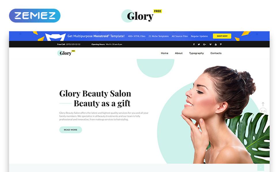 """""""Thème HTML5 gratuit pour salon de Spa"""" modèle web  New Screenshots BIG"""