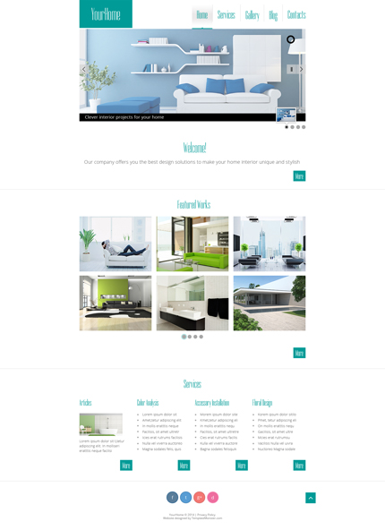 ADOBE Photoshop Template 51678 Home Page Screenshot