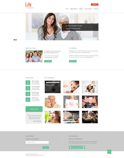 ADOBE Photoshop Template 51679 Home Page Screenshot