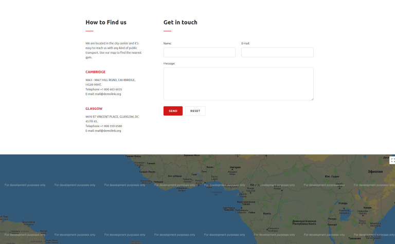 Free Html5 Theme For Sport Site - Us-map-html5