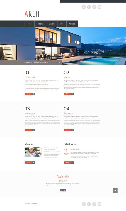ADOBE Photoshop Template 51687 Home Page Screenshot