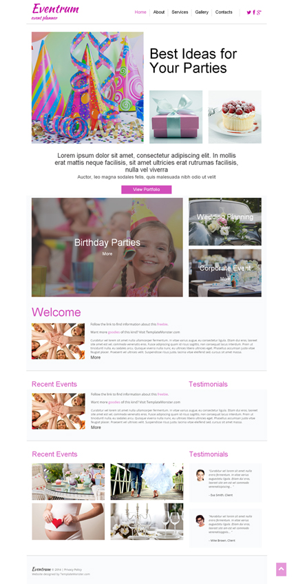 ADOBE Photoshop Template 51690 Home Page Screenshot