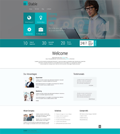 ADOBE Photoshop Template 51691 Home Page Screenshot