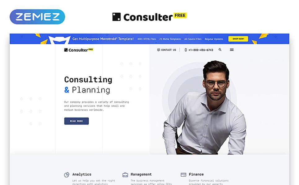 """Website Vorlage namens """"Kostenlose HTML5 Vorlage für eine Beratungsfirma"""" New Screenshots BIG"""
