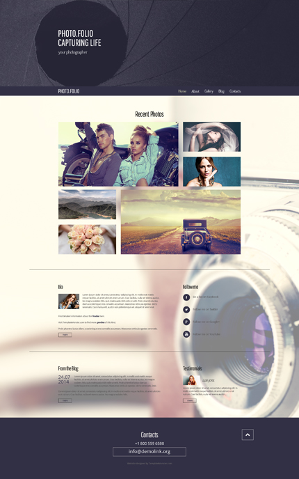ADOBE Photoshop Template 51693 Home Page Screenshot