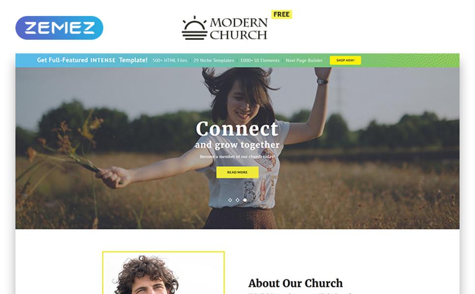 """""""Безкоштовний шаблон  HTML5 для релігійного сайту"""" - Шаблон сайту New Screenshots BIG"""