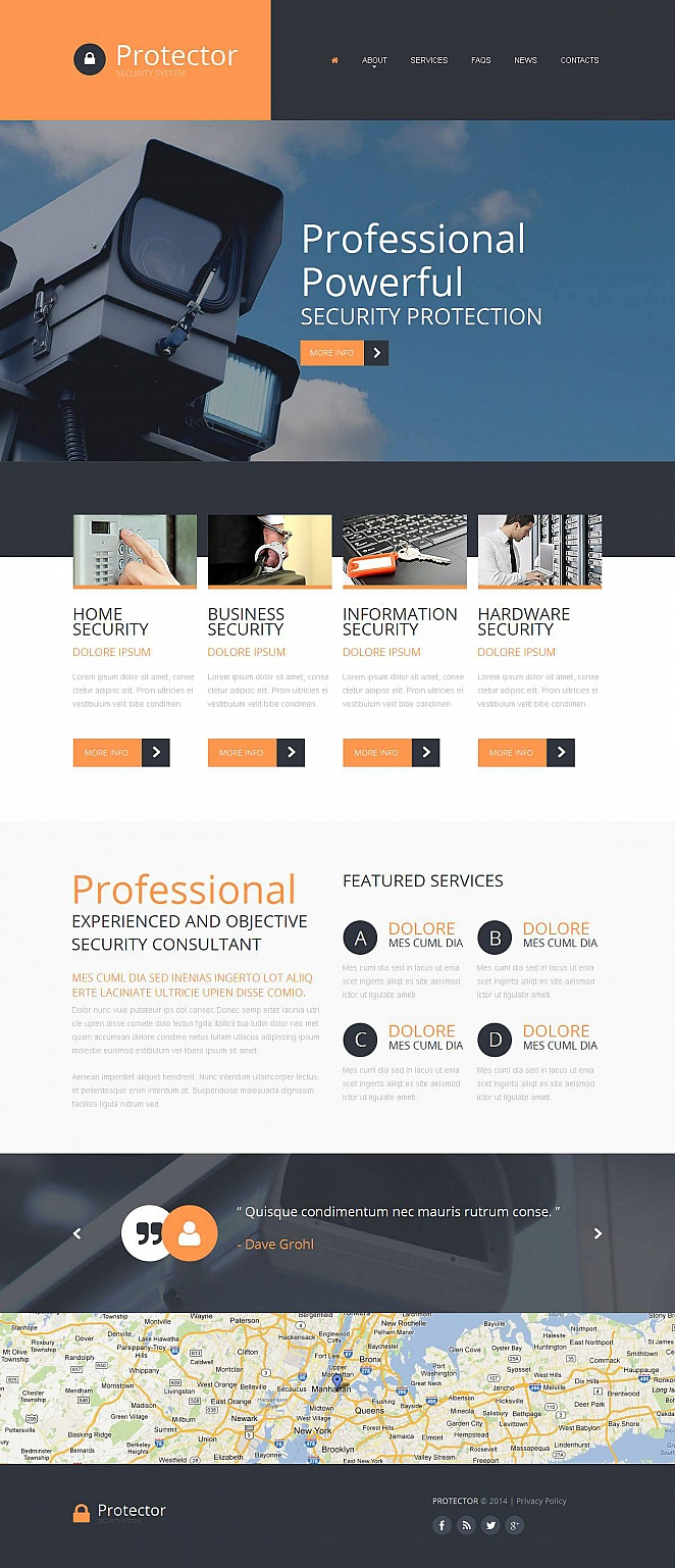Security Systems Web Template with Header Image Slideshow - image