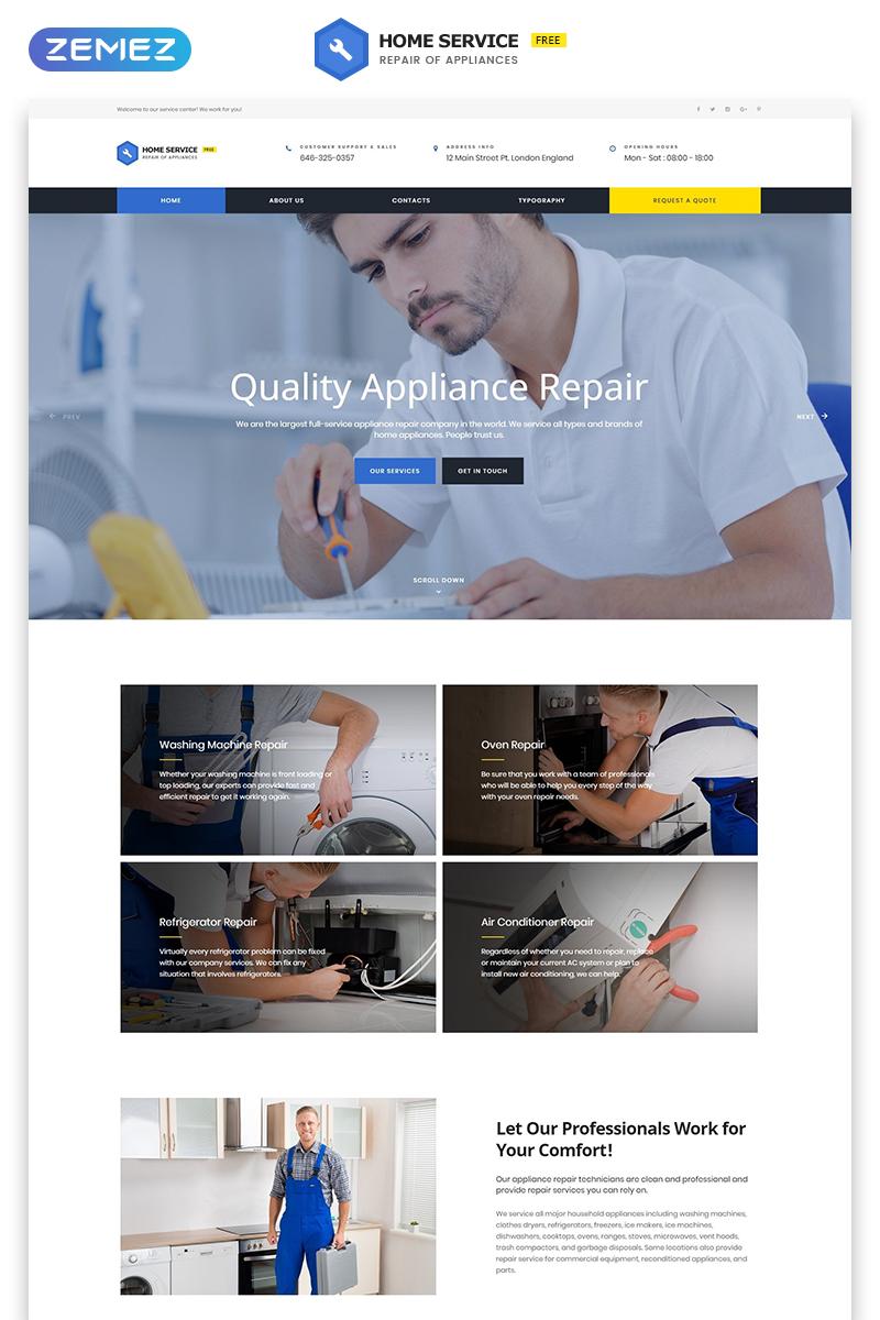 Бесплатный HTML5 шаблон для клинингового агентства №51685 - скриншот