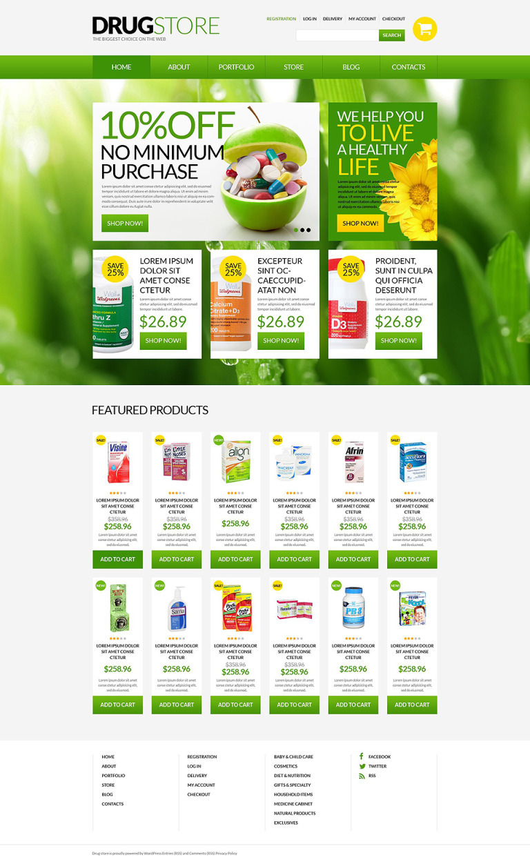 Drugstore WooCommerce Theme New Screenshots BIG