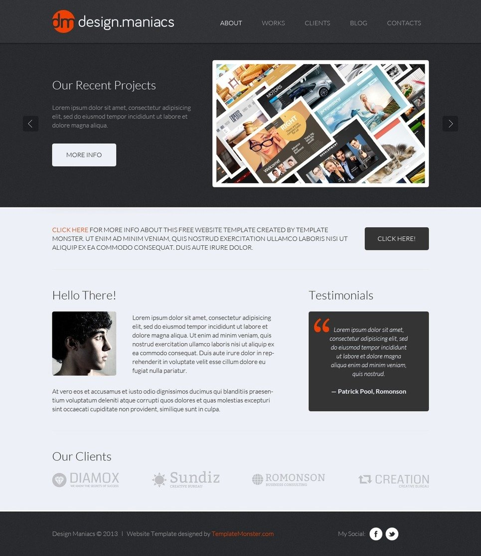 Free design studio html theme free design studio html theme website template new screenshots big maxwellsz