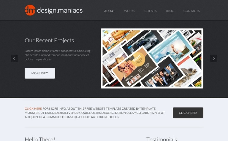 Free Design Studio HTML Theme - Photo studio website template