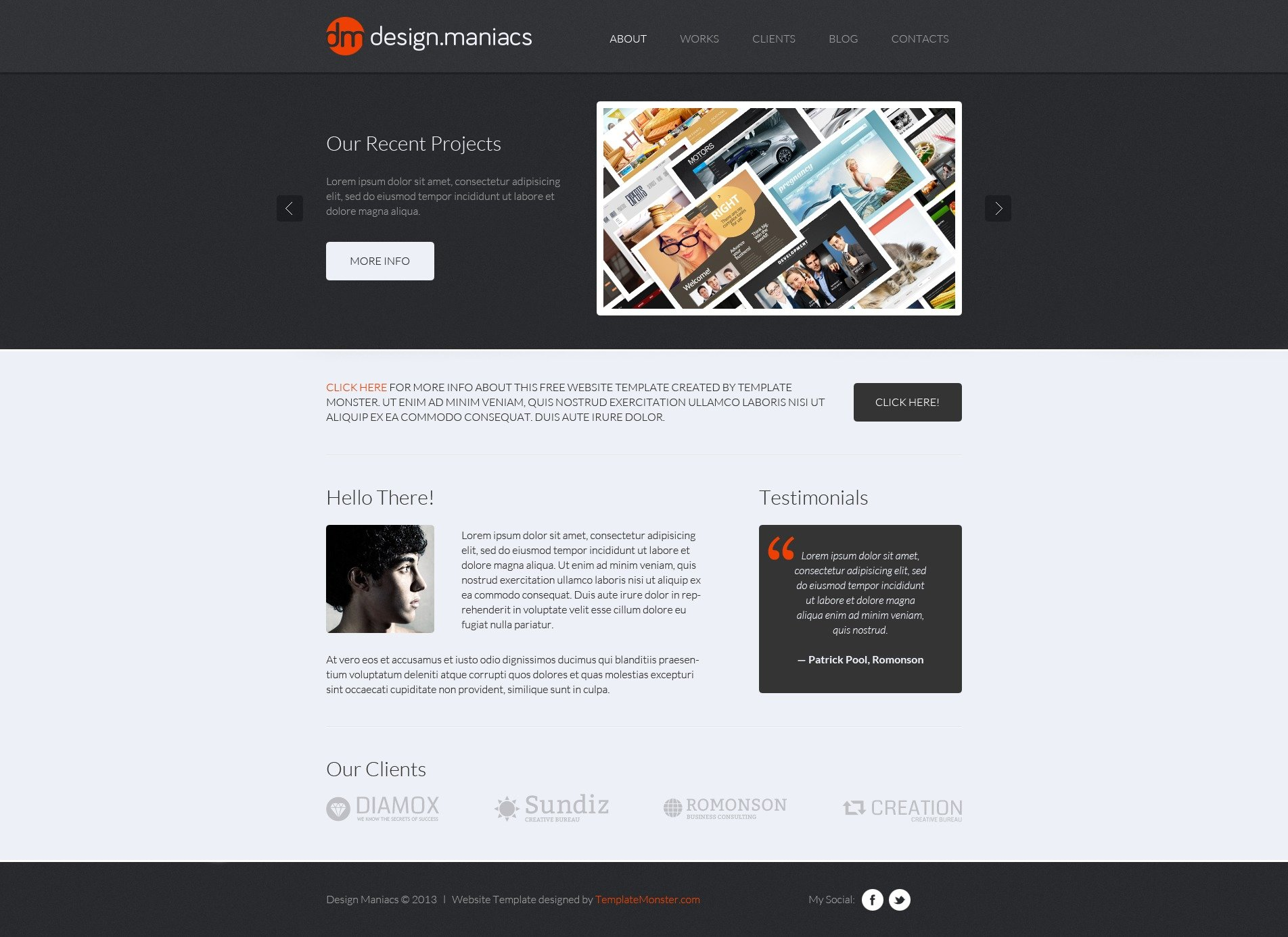 Lovely Free Design Studio HTML Theme Website Template New Screenshots BIG. Zoom In