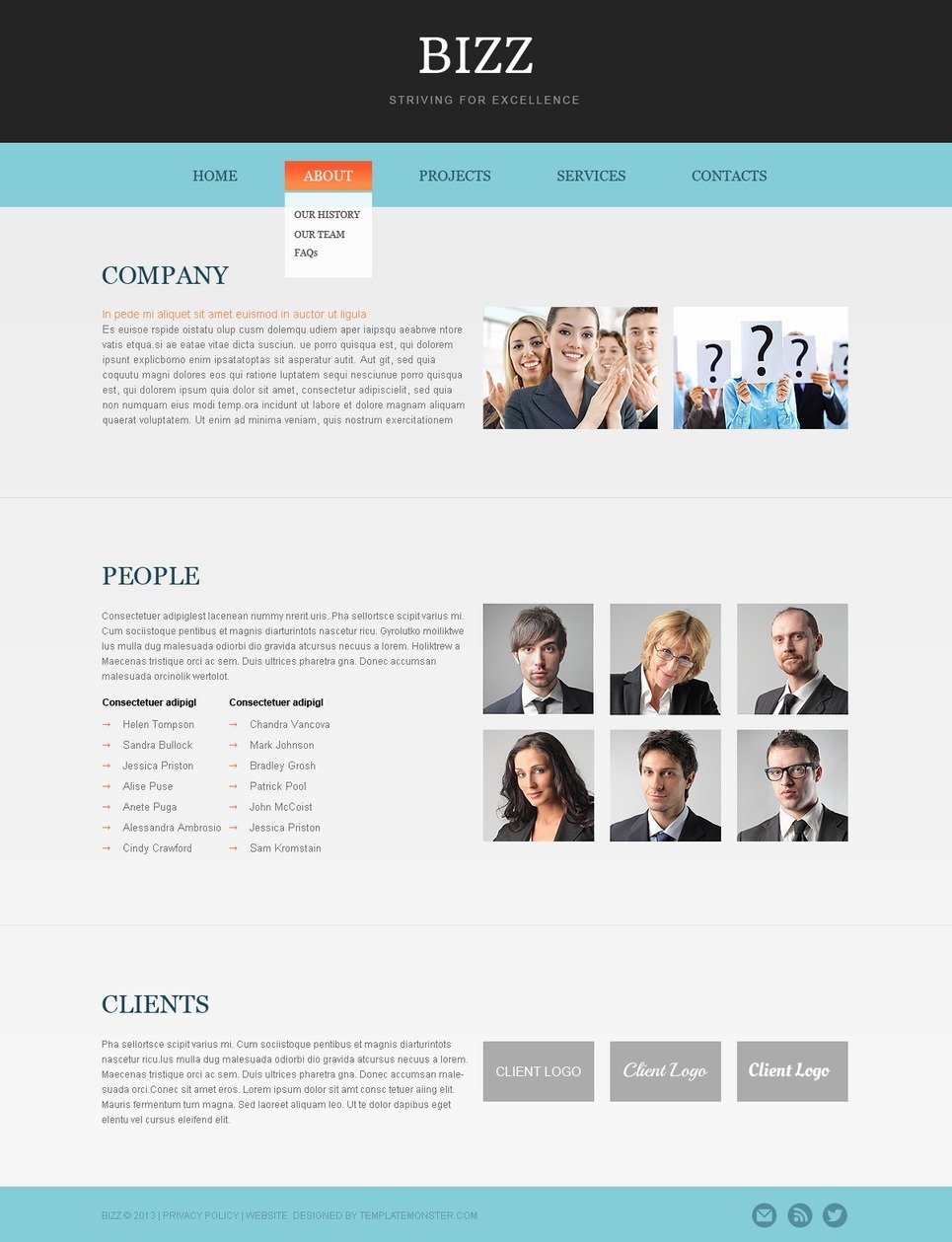 free html5 business theme website template new screenshots big