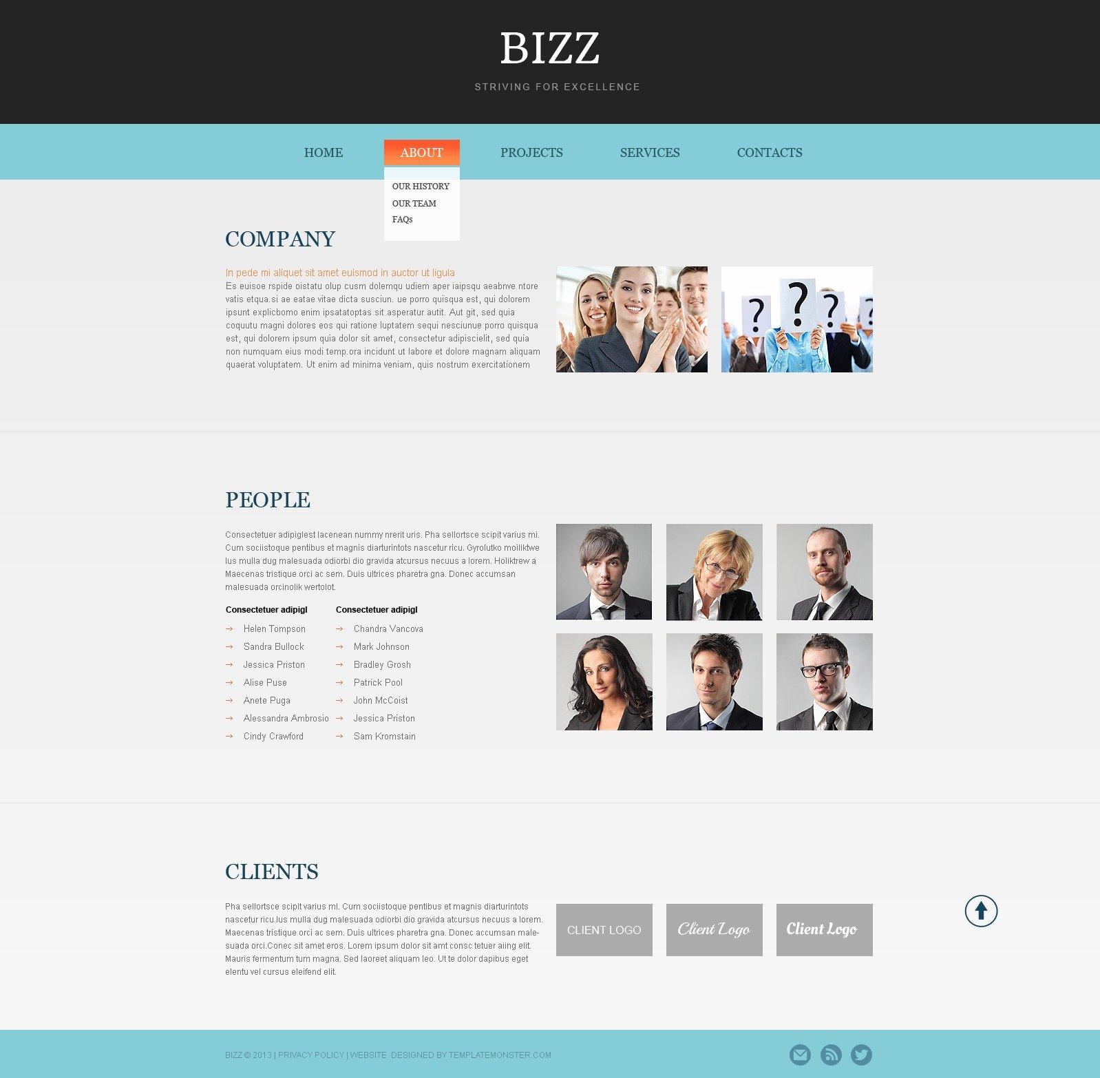 Free HTML5 Business Theme Website Template - screenshot