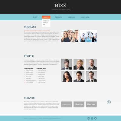Free html5 business theme business website template wajeb Choice Image