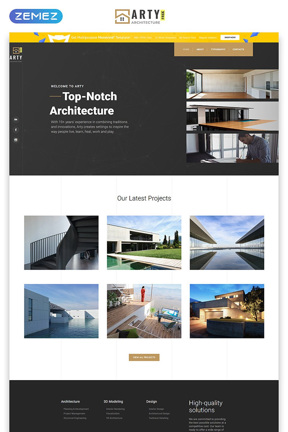 Free HTML5 Theme - Architecture Website Template - screenshot