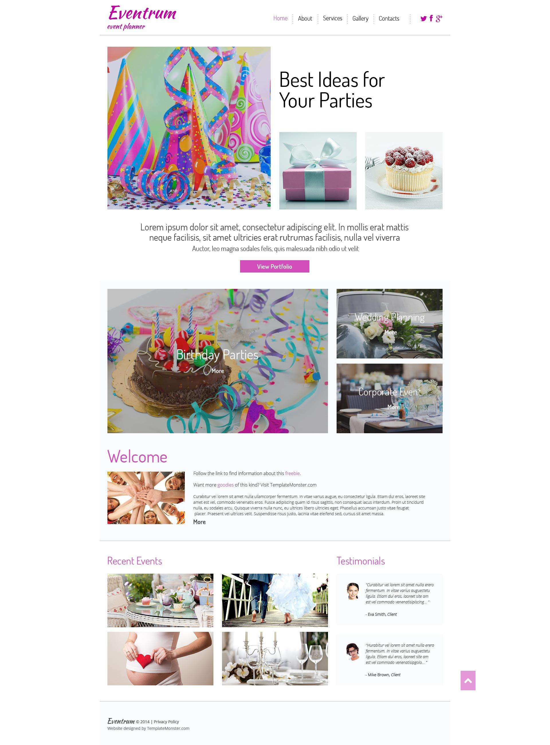 Free HTML5 Theme for Entertainment Site Web Sitesi #51690 - Ekran resmi