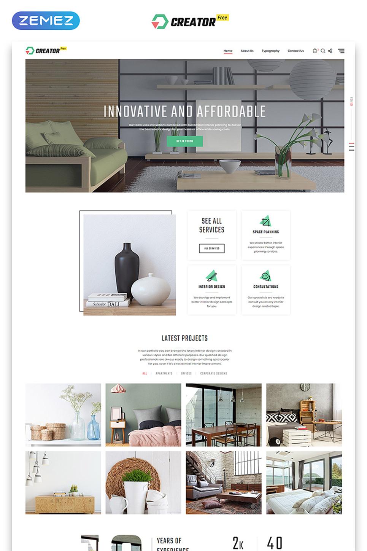Free html5 theme for exterior design website for Exterior design templates
