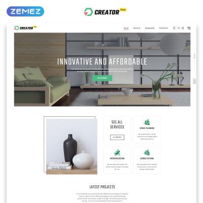 Free HTML5 Theme for Exterior Design Website