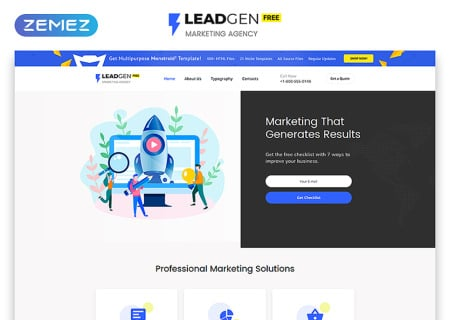Free HTML5  for Marketing Agency