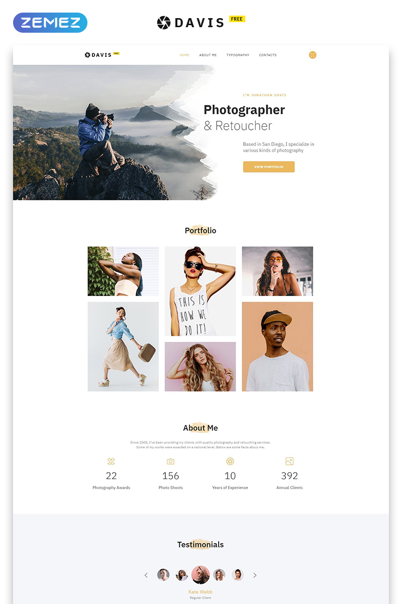 """""""Free HTML5 Theme for Photo Site"""" Responsive Website template №51684 - screenshot"""