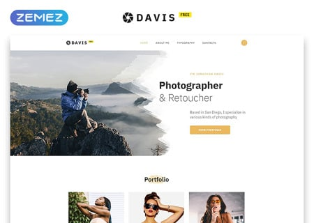 Free HTML5  for Photo Site