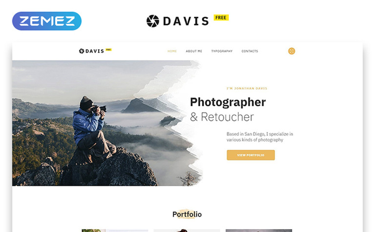 Free HTML Theme For Photo Site - Free html photography website templates