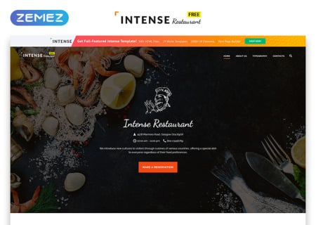 Free HTML5  for Restaurant Site