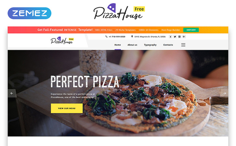Free Html5 Theme For Restaurant Website Template New Screenshots